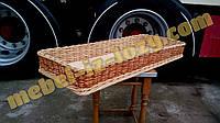 Плетёный лоток из лозы 60*40 с высотой 10 см