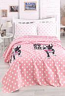 Покрывало пике вафельное Eponj Home Boston Pembe розовый 160х235