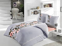 Трикотажное постельное бельё с простыней на резинке ACELYA Savon