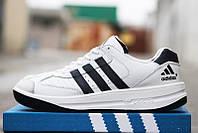 """Мужские кроссовки Adidas лучшее качество, """"московский адидас"""" чоловічі кросівки Адідас шкіра."""