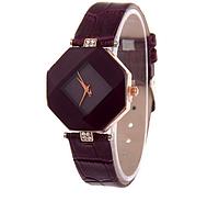 Часы женские наручные бордовые Jewel gem cut