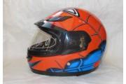 Шлем-интеграл детский BLD Spiderman оранжевый