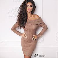 Стильное платье трикотаж рубчик