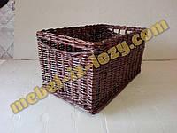 Темный плетеный лоток 30*40 с высотой 15 см