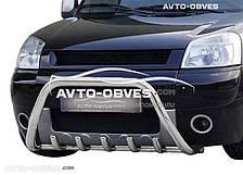Кенгурятник для Citroen Berlingo 2002-2007 (AISI304, облегчённый)