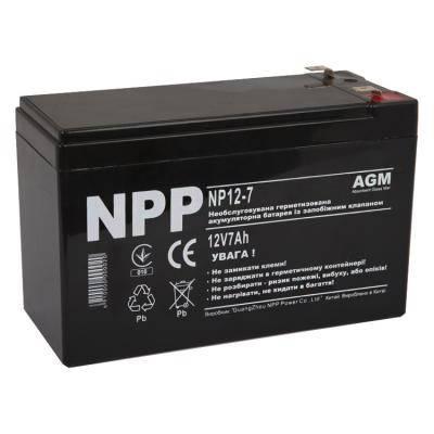 Батарея к ИБП NPP 12В 7 Ач (NP12-7), фото 2