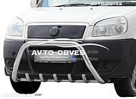 Кенгурятник для Fiat Doblo II 2001 - 2012  (AISI304, облегчённый)