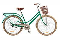 """Велосипед Дорожник Comfort Female 14G St (2017) 28"""" рама-19"""" бирюзовый с багажником (OPS-D-28-065)"""