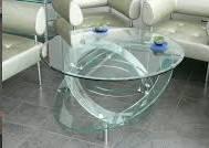 Круглые столешницы из стекла