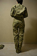"""Жіночий військовий костюм Рип-стоп """"клетка"""" Піксель ЗСУ"""