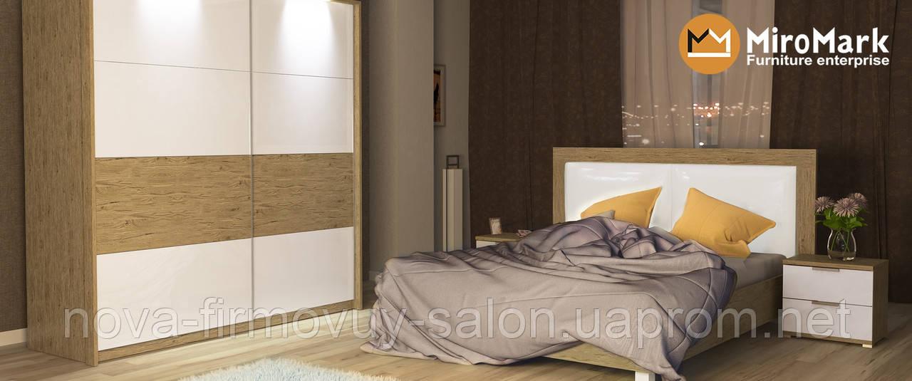 Спальня Верона глянець білий-Сан маріно