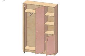 Шкаф для одежды К-132 (900*320*1860h)