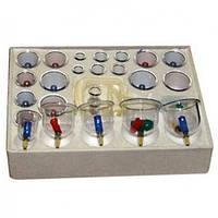 Вакуумные банки с насосом (24 штуки в комплекте), массажные банки, антицеллюлитные вакуумные банки массажные