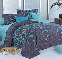 Двуспальный комплект постельного белья евро 200*220 хлопок  (6848) TM KRISPOL Украина