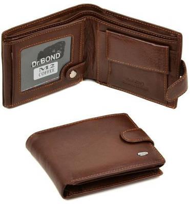 Стильный мужской кошелек из натуральной кожи dr.Bond M2 coffee