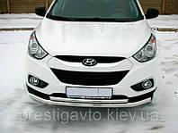 Защита бампера на Hyundai IX35 (2010-...) двойная