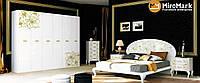 Спальня Піонія глянець білий-золото, фото 1