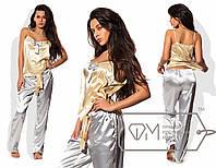 Пижама женская золото с серебром UD/-06981
