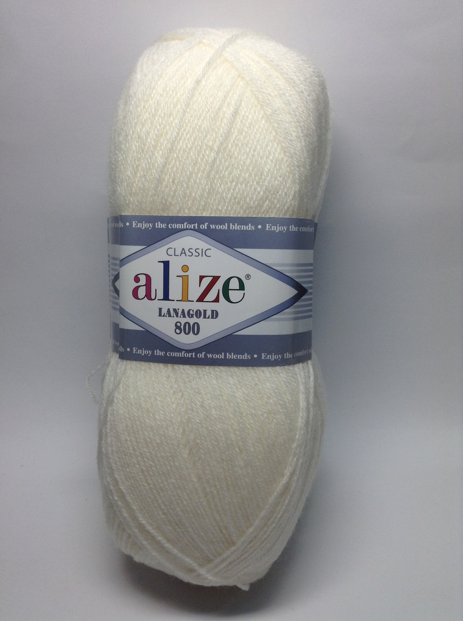 Пряжа lana gold 800 - цвет белый