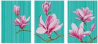 Схема для вышивания бисером  DANA Триптих Цветение магнолий 46