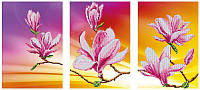 Схема для вышивания бисером  DANA Триптих Цветение магнолий 45