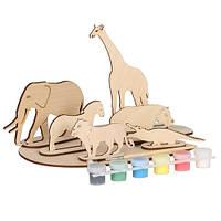 Набор для творчества «Сборная деревянная модель «Африканские животные» 70966 Вудмастер