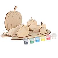 Набор для творчества «Сборная деревянная модель «Овощи» АТ -119 Вудмастер