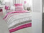 Семейное трикотажное постельное бельё с простыней на резинке ACELYA Holly