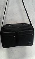 Мужская сумка черная из прочного материала (Украина)