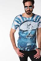 Мужская футболка De Facto белого цвета с рисунком по переду, фото 1