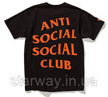 Футболка с принтом assc paranoid   Anti Social social club orange