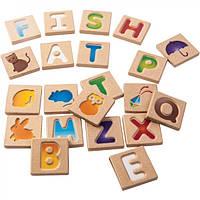 Деревянне буквы Plan Тoys - Английский алфавит A-Z