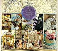 _Свадебный альбом для пожеланий 275Х275мм Мандарин