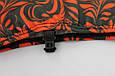 Чехол на ботинок конька (черный с красным узором), фото 2