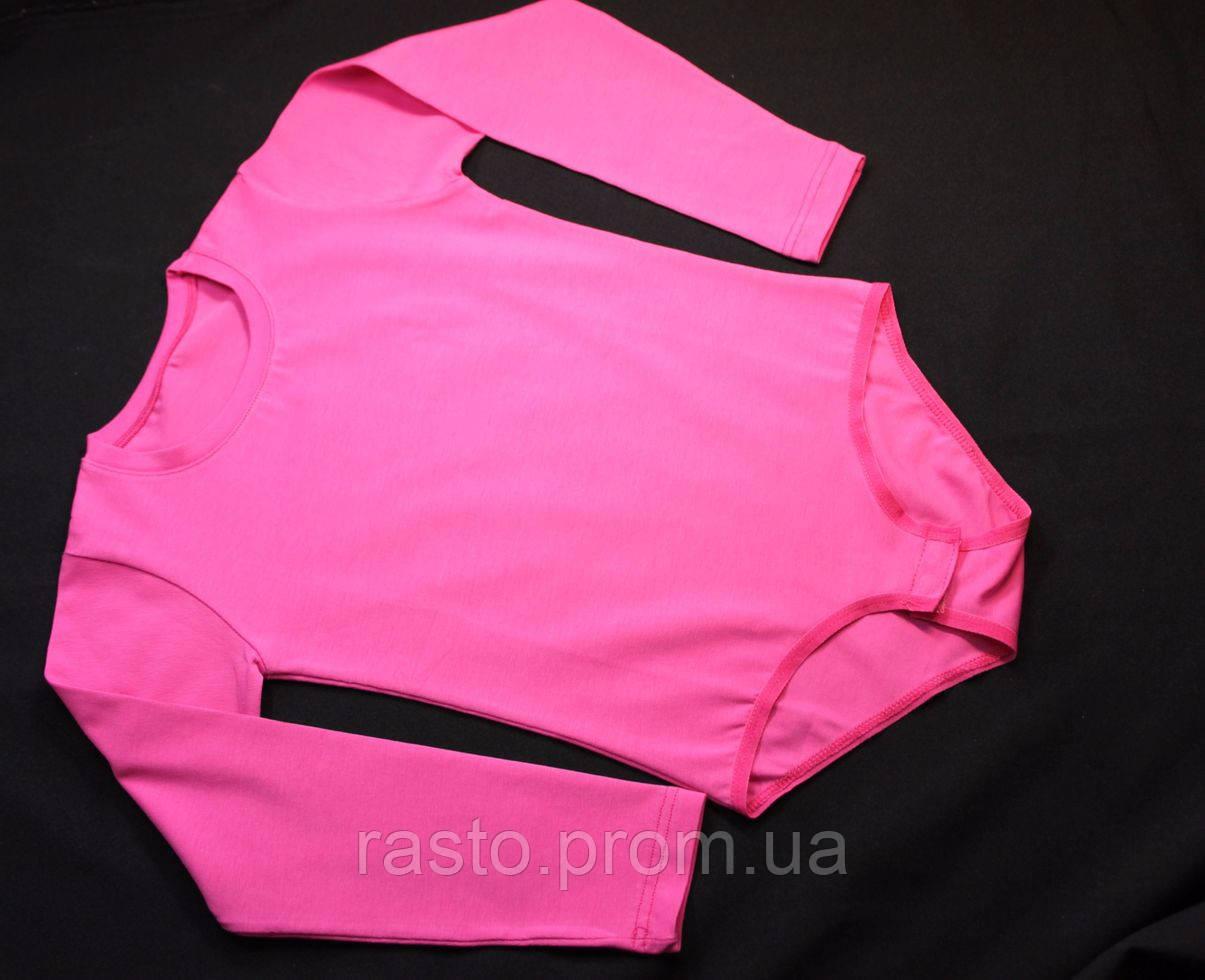 Малиновый купальник трико для танцев гимнастики хореографии с застежкой снизу - интернет-магазин «Rasto» в Киеве