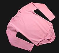 Розовый купальник трико для танцев гимнастики хореографии с застежкой снизу