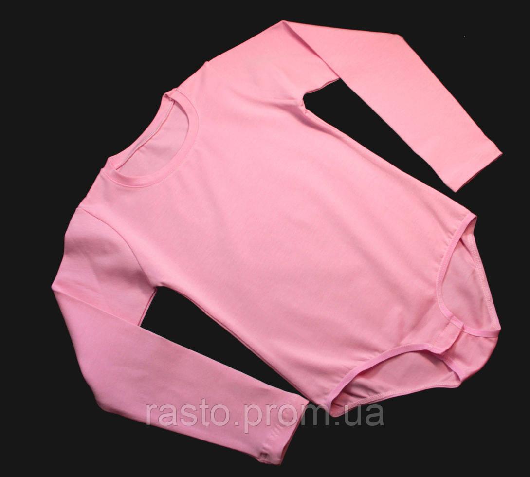 Розовый купальник трико для танцев гимнастики хореографии с застежкой снизу - интернет-магазин «Rasto» в Киеве