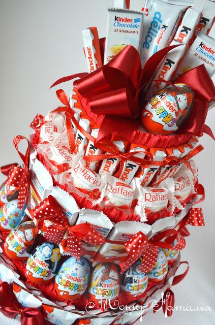 Кіндер букети, подарунки, торти, бокси з шоколаду і яєць
