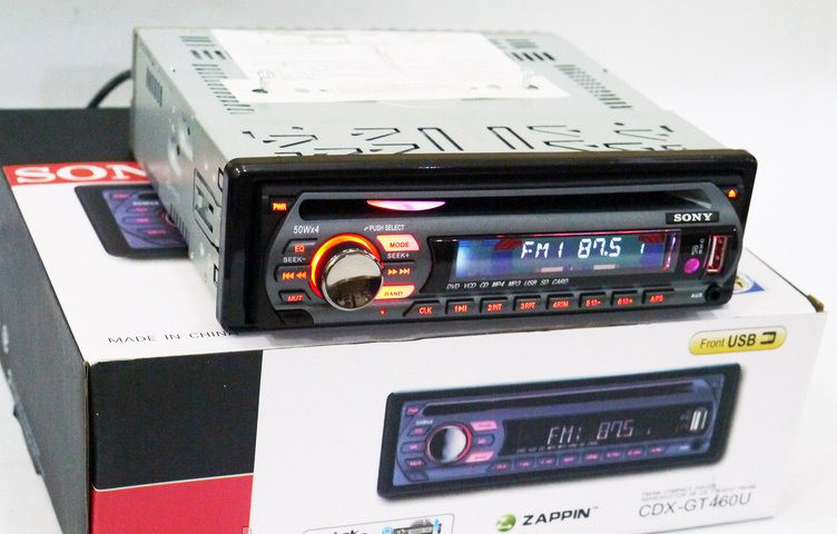 Автомагнитола CDX-GT490U DVD USB Sd MMC съемная панель
