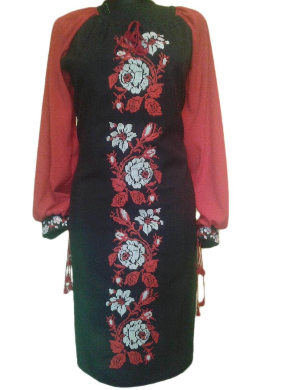 """Жіноче вишите плаття """"Норсі"""" (Женское вышитое платье """"Норси"""") PU-0007"""