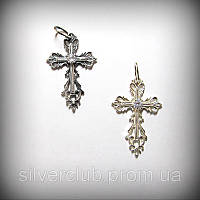 Ажурный крестик из серебра 925 пробы от производителя недорого