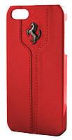 Чехол для iPhone 5/5s/SE Ferrari Montecarlo leather cover case, красный