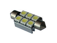 Автомобильные светодиодные лампы iDial Светодиодная лампа Canbus Festoon 6leds 5050SMD с радиатором