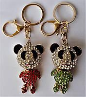 """Брелок для ключей и сумку """"Панда со стразами"""""""