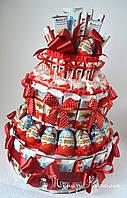 Торт из Киндер шоколадок, яиц, конфет