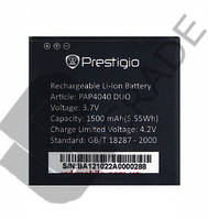 Аккумулятор на Prestigio PAP4040 Duo MultiPhone, 1500 mAh