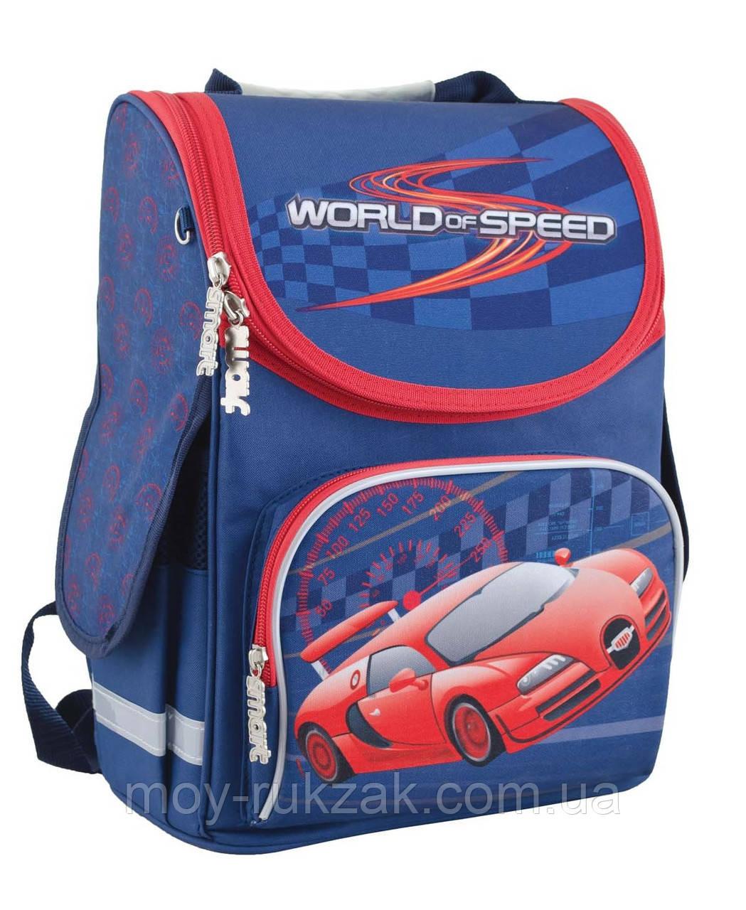 """Ранец ортопедический каркасный """"1 Вересня"""" World Of Speed PG-11, 553426"""