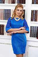 Элегантное женское  платье А14 электрик   44-48  размеры