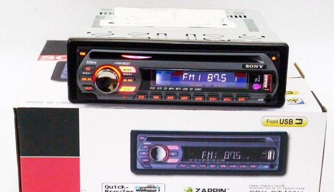 Автомагнитола CDX-GTX460U DVD USB Sd MMC съемная панель