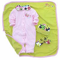 Детский подарочный набор для новорожденных 4в1 3-6 мес Турция